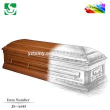 JS-A645 taille standard en gros meilleur prix crémation cercueil lit
