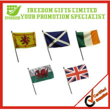 Cheapest Price Top Quality Logo Printed Plastic Hand Flag