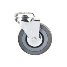 Bolt Hole Grey Rubber Light Duty Caster Brake