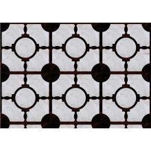 Parquet Pure Ebony Wood Flooring Mixed Imported Marble