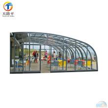 Cadre en aluminium de haute qualité courbé toit verre Sunroom