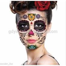 Tatouage personnalisé conception masque facial autocollant de tatouage temporaire Tatouage personnalisé masque pour la fête
