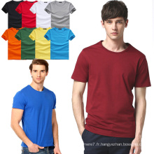 2017 Gros Hommes Coton T-Shirts Mode Fitness Tee Shirts