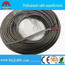Cable plano del aislamiento del PVC del cable plano 300 / 500V Ningbo Puerto de Shangai