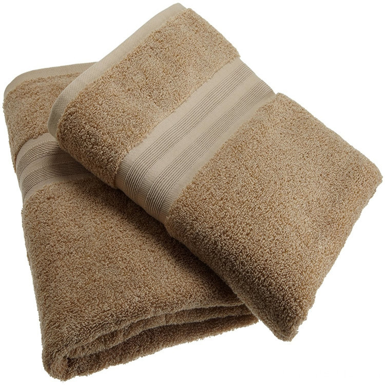 100% Combed Cotton Solid Color Hotel Bath Towels