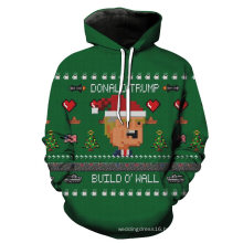 3D Digital Printing Long Sleeve Pullover Hoody Clothes Sweater