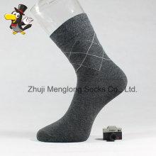 Classic Diamond Pattern Man Crew Cotton Socks