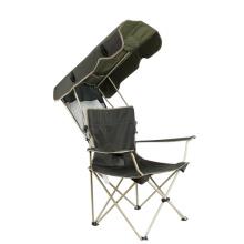 Alta carga de rolamento ao ar livre de metal dobrável cadeira de acampamento dobrável piquenique cadeira de metal