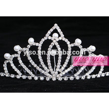 Fashion fashion pearl princess real diamante nuptiale tiaras