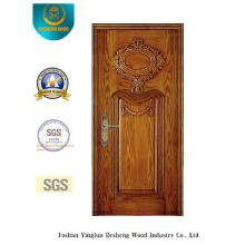 Porte en acier de sécurité avec sculpture spéciale (b-6017)