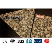 Panneau composite en aluminium à texture de pierre pour usage intérieur et extérieur