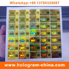 Anti-Fake Security Hologram Stickers with Qr Code Printing