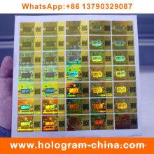 Анти-подделка голограмма безопасности наклейки с QR-код печать