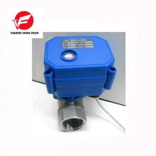 Válvula eléctrica del acero inoxidable de la bola de la hembra dn15 ss304 CWX-15N de 3.6v 5v 6v