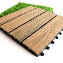 Water Retardant Fire Retardant Terrace Floor Tile Garden WPC DIY Tiles Composite Interlocking Floor Tile