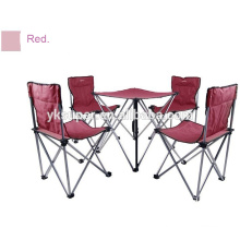 2015 garden set camping table and folding fishing chair set