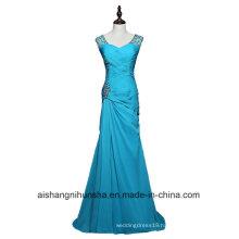 Women Sheathfloor Length Chiffon Beaded Long Evening Party Prom Dress