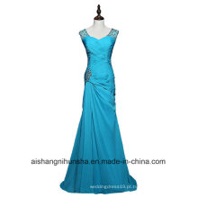 Mulheres Sheathfloor Comprimento Chiffon Frisado Longo Evening Party Prom Dress