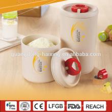Trigo y el arroz cascos fibra biológico degradable material tarro para leche