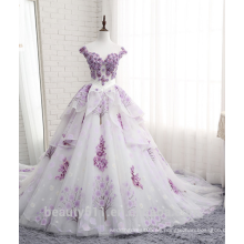 El encaje encantador del estilo del cordón del estilo de la alta calidad appliqued el vestido nupcial TS302 del vestido de bola