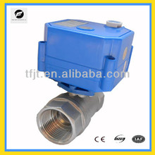 3/4 inch DC12V stainless steel 304 operated motorized electric ball valve with feedback for for water