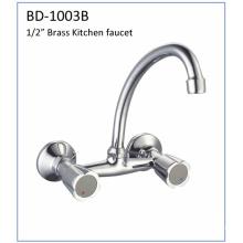 Bd1003b Double Handles Brass Kitchen Faucet