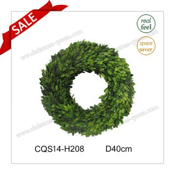 D40cm Естественные листья Консервированные цветы ягненка и венки Стекло ремесло