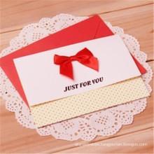 Customized Wedding Invitation Crad Greeting Card Printing with Envelope