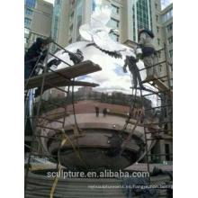 Urbano grandes al aire libre de acero inoxidable bolas 304L bola de metal pulido molienda