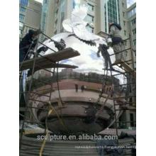 Urban large outdoor stainless steel 304L balls metal sphere polishing grinding