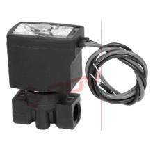 Нормально закрытый пластмасса PP белый 3мм миниатюрный электромагнитный клапан