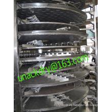Secador rotativo continuo de placas para carbonato de litio