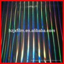 Holographische Overlays Film / Farbe gedruckter heißer Verkauf Hochqualitätsholographischer Verpackungsausdehnungsverpackungsfilm / schützender Plastikfilm
