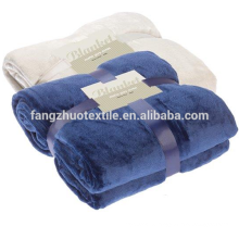 wholesale ready to ship  solid  color plush  soft coral fleece blanket
