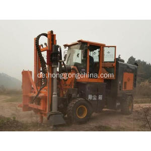 Wheeled Highway Guardrail Drilling Pile Driver