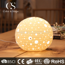 Modern round ceramic fancy table lamp for decoration