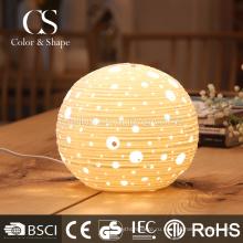 Современная круглая керамическая необычные настольные лампы для украшения