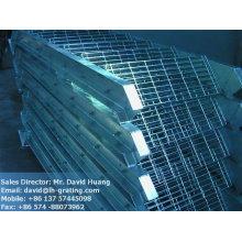 galvanized staircase, galvanized stair grating, galv grating stair