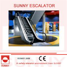 Escada rolante interna com placa de pente de liga de alumínio e corrimão de borracha, Sn-Es-ID065