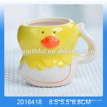 Copa decorativa de mousse de cerámica con forma de pollo para la venta al por mayor
