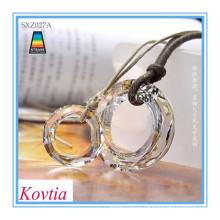 Colar de moda 2015 imitação de jóias colares casal colar de pingente de cristal