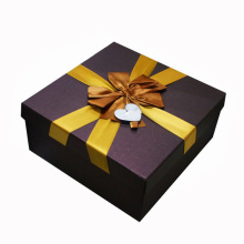 Custom Paper Gift Packaging Box with Silk Ribbon