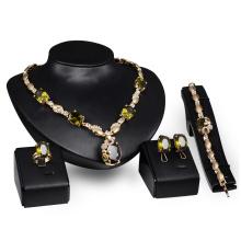 Emerald Rhinestone Jewelry Sets for Women (C-XSST0069)