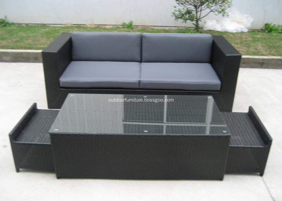 DLR1108-11 Plastic Wicker Garden Modern Leisure Sofa Furniture