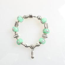 Pandora verde mujeres de abalorios de cristal aleación pulseras brazaletes