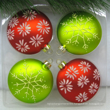 Artdragon best selling 2020 hanging flat glass ball ornament sets for Xmas tree decorations