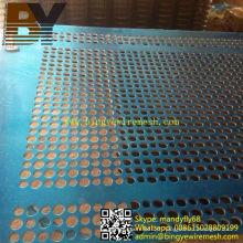 Clôture en treillis métallique perforé galvanisé