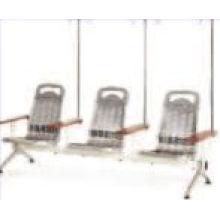 Chaise d'infusion en acier inoxydable à 3 sièges