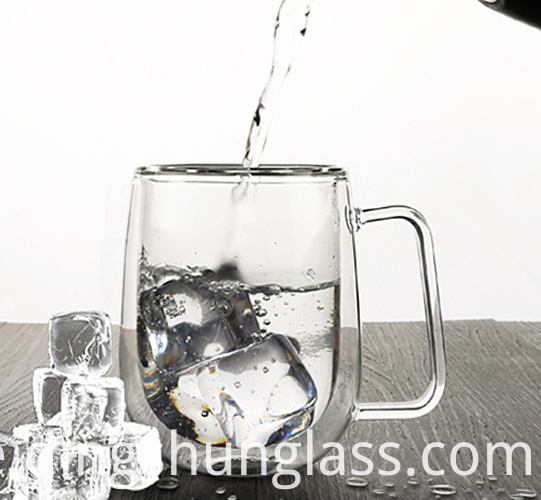 Glass cup with lid