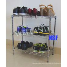 Aço ajustável Chrome Shoes Rack (LD503050C3C)